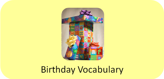 Daily Autism Freebie: Birthday Party Vocabulary Flash Cards
