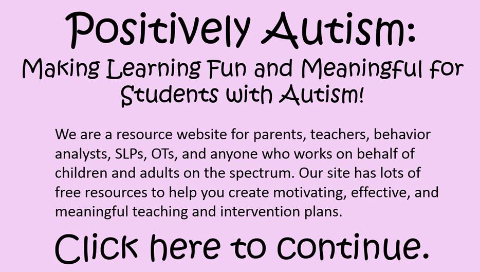 Positively Autism Logo - Click Here to Continue